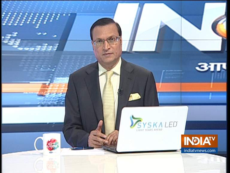 Rajat Sharma Rajat Sharma opinion on daily news, Aaj ki baat